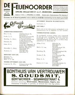 De Feijenoorder Augustus 1939