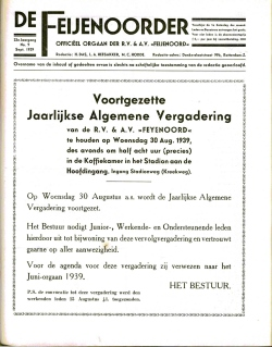 De Feijenoorder September 1939