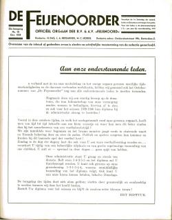 De Feijenoorder Oktober 1939