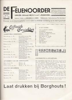 De Feijenoorder Maart 1940