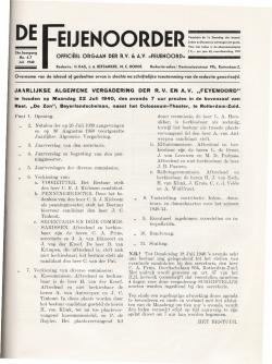 De Feijenoorder Juni 1940