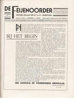De Feijenoorder Januari 1941