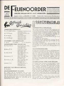 De Feijenoorder Maart 1941