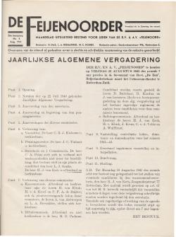 De Feijenoorder Augustus 1941