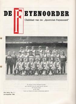De Feijenoorder Juli Augustus 1982