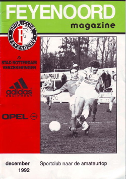 Feyenoord Magazine December 1992