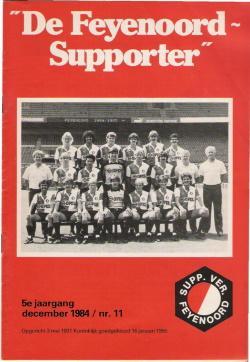 De Feyenoord Supporter December 1984
