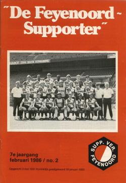 De Feyenoord Supporter Februari 1986