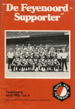 De Feyenoord Supporter April 1986