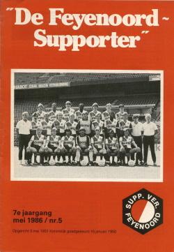 De Feyenoord Supporter Mei 1986