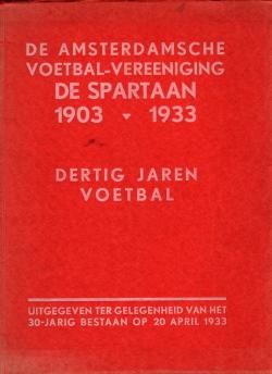 Gedenkboek De Spartaan Amsterdam 30 jaar