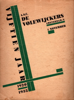Gedenkboek Volewijckers 15 jaar