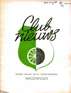 Clubnieuws Wageningen Juli Augustus 1968