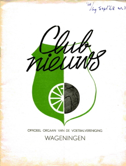 Clubnieuws Wageningen September 1968