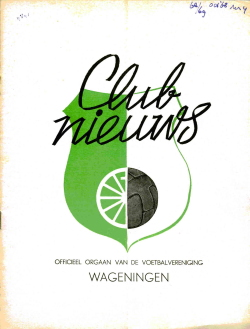 Clubnieuws Wageningen Oktober 1968