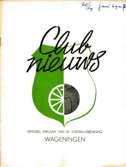 Clubnieuws Wageningen Januari 1969