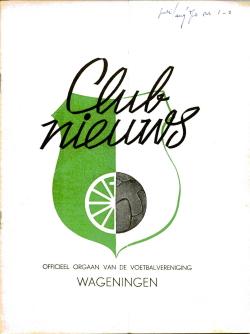 Clubnieuws Wageningen Juli-Augustus 1970