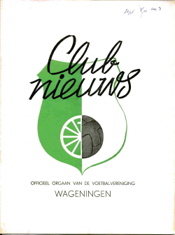 Clubnieuws Wageningen September 1970