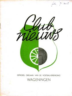 Clubnieuws Wageningen Februari 1971