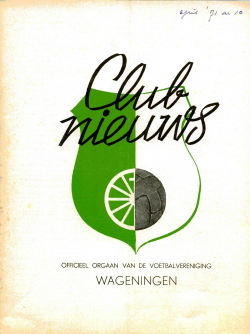 Clubnieuws Wageningen April 1971