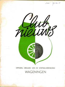 Clubblad Wageningen Mei 1971