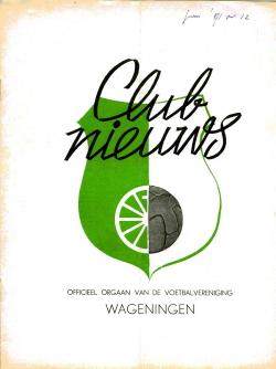 Clubblad Wageningen Juni 1971