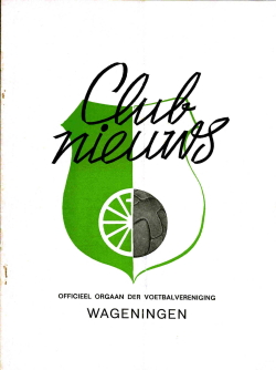 Clubnieuws Wageningen Januari 1972