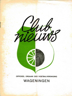 Clubnieuws Wageningen September 1972