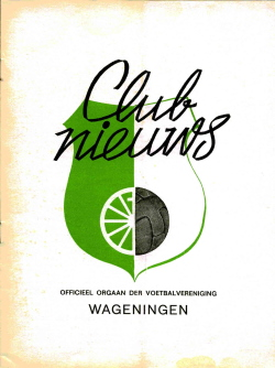 Clubnieuws Wageningen April 1973