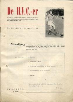 De HVC-er Januari 1960