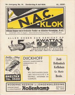 NAC Klok Juli 1936