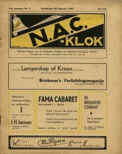 NAC Klok 20 Februari 1947