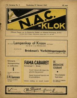 NAC Klok 27 Februari 1947