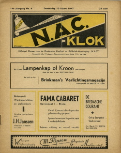 NAC Klok 13 Maart 1947