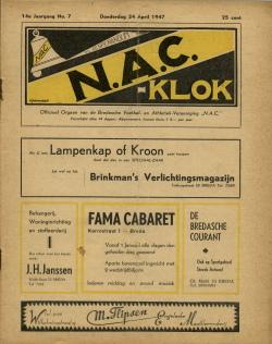 NAC Klok 24 April 1947