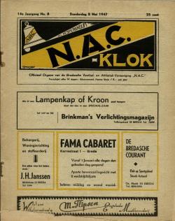 NAC Klok 8 Mei 1947