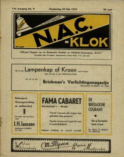 NAC Klok 22 Mei 1947