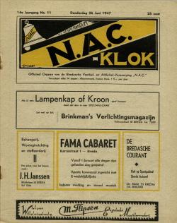 NAC Klok 26 Juni 1947