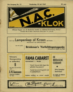 NAC Klok 10 Juli 1947