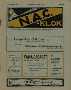 NAC Klok 24 Juli 1947