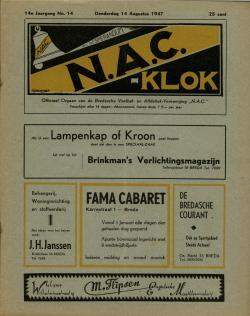 NAC Klok 14 Augustus 1947