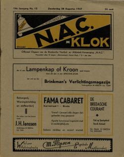 NAC Klok 28 Augustus 1947