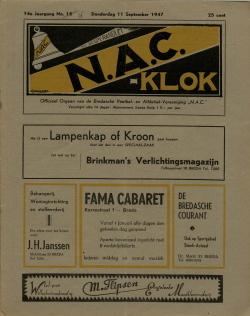 NAC Klok 11 September 1947
