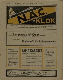 NAC Klok 25 September 1947