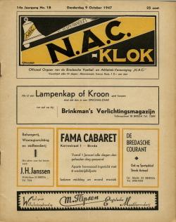 NAC Klok 9 Oktober 1947