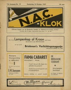 NAC Klok 16 Oktober 1947