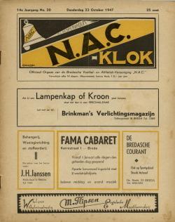NAC Klok 23 Oktober 1947