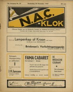 NAC Klok 20 November 1947