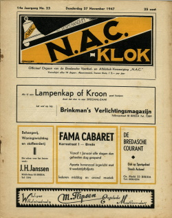 NAC Klok 27 November 1947