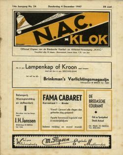 NAC Klok 4 December 1947
